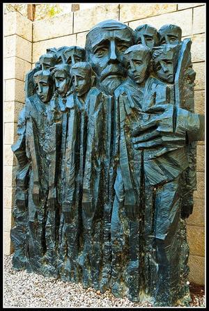 Jerusalén: Museo del holocausto: Plaza de Janusz Korczak