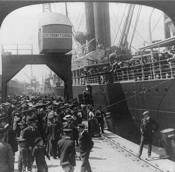 Utvandrare i Göteborg 1905