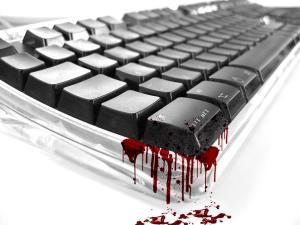 Källa: http://www.top.freewallpaper-s.net/rwx/Blood_on_Keyboard.JPG