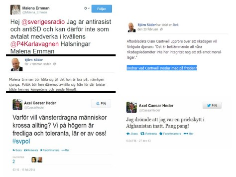 Björn Söder, Sverigedemokraternas partisekreterare. Axel Caesar Heder, Distriktsordförande för SDU Södermanland