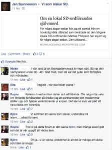 Jan Sjunnesson, chefredaktör för SD-ägda Samtiden, delade denna länk.