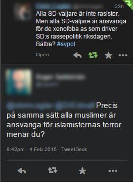 Skärmdump från twitter