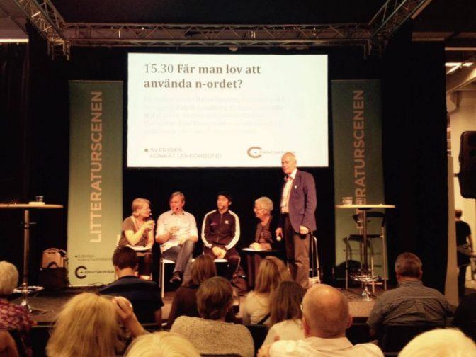 Paneldebatt om n-ordet på Bokmässan utan afrosvenskar i panelen