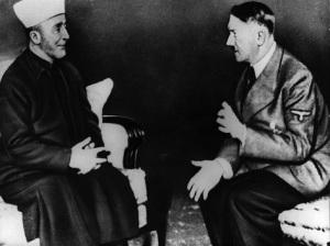 Adolf Hitler talking to Grand Mufti Haj Amin el Husseini. (Photo by Keystone/Getty Images)