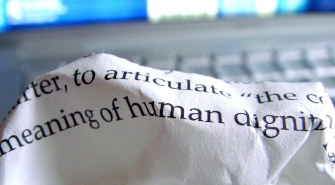 Myt: Människovärde eller värdighet?