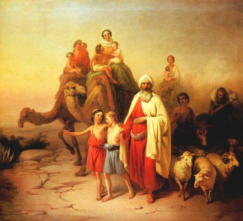 Abraham's Journey from Ur to Canaan, by József Molnár 1850