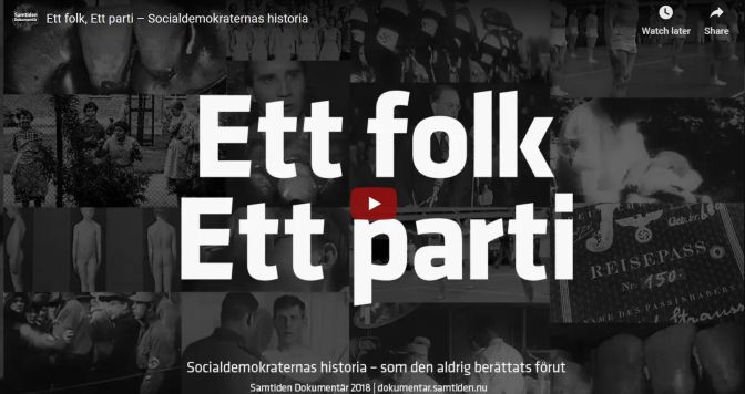 SD ljuger om Socialdemokraterna och nazismen på 30- och 40-talet