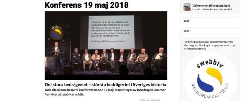 Konferens Stora Bedrägeriet