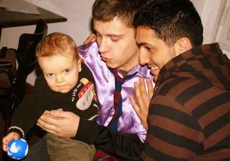 Homosexuellt par med barn